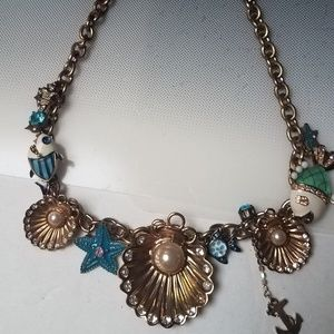 Betsey Johnson necklace Under the Sea pearls fish